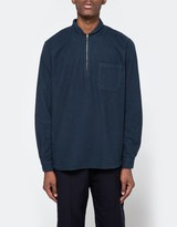 Our Legacy Shawl Zip Shirt Navy Flannel