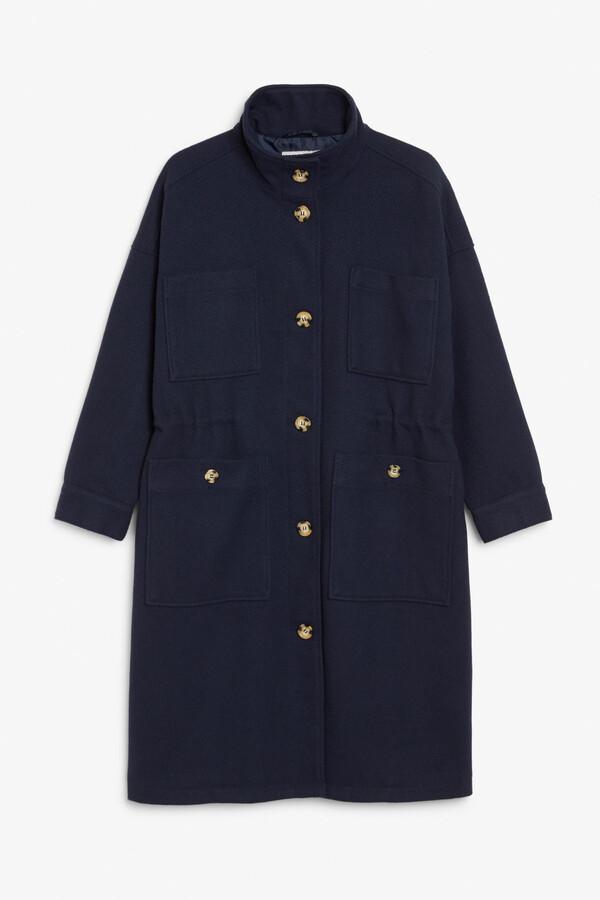 Thumbnail for your product : Monki Turtleneck coat