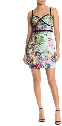 GUESS Tropical Palm Mini Dress