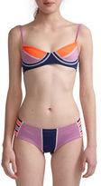 Cynthia Rowley Colorblock Bikini Top