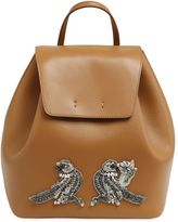 N°21 Leather Backpack W/ Bird Appliqué