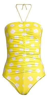 Paper London Women's Lombok Tie-Dye Halterneck Swimsuit