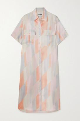 Jil Sander Printed Silk-twill Shirt Dress - Ivory