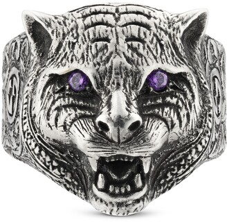 Gucci Garden feline head ring