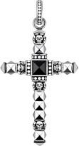 Thomas Sabo Cross skulls sterling silver and onyx pendant