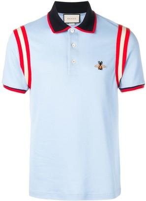 Gucci Bee Applique Polo Shirt