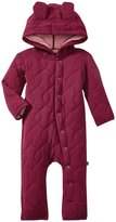 Kickee Pants Quilted Hoodie Coverall w/Ears (Baby) - Scarlet-3-6 Months
