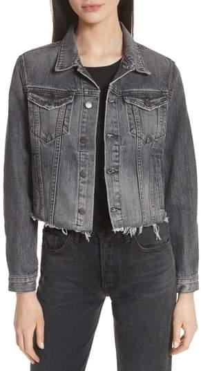 GRLFRND Cara Crop Denim Jacket