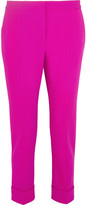 Narciso Rodriguez Wool-blend Piqué Tapered Pants - Fuchsia