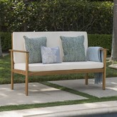 Bronx Doyon Upholstered Bench Ivy Upholstery: Cream, Color: Brown