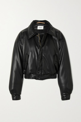 Nanushka Bomi Vegan Leather Bomber Jacket - Black