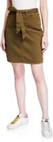 7 For All Mankind Jen7 By Tie-Waist Denim Pencil Skirt