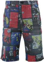 Daniele Alessandrini comic strip shorts - men - Cotton/Polyester/Spandex/Elastane - 46