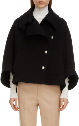Chloé Wool Blend Crop Coat