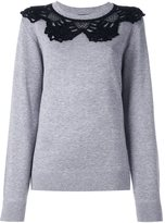Marc Jacobs crochet collar jumper - women - Cotton/Nylon/Viscose/Wool - M