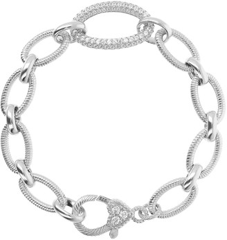 Judith Ripka Sterling veronoa Vert Agate Link Bracelet 35.8 G pour 7 1//4 dans