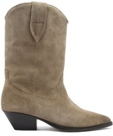Thumbnail for your product : Isabel Marant Duerto Suede Western Boots - Beige