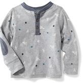 Old Navy Printed Henley Tee for Toddler