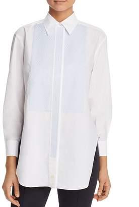 Tory Burch Gingham-Bib Cotton Tunic Shirt