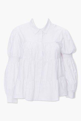 Forever 21 Plus Size Tiered Shirred Shirt