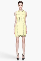 Versace Vivid Yellow heart and arrow cut out Dress