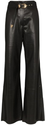 Nanushka Kisa vegan leather maxi trousers