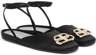 Balenciaga BBall satin sandals