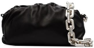 Bottega Veneta Chain Pouch, Black-silver