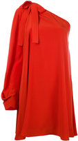 MSGM single shoulder shift dress - women - Silk/Polyester - 42