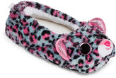 Asstd National Brand Girls Ballerina Tasha-Pink-Gray Leopard Slippers