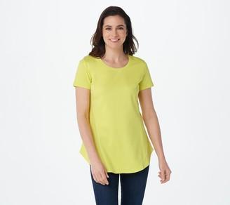 Isaac Mizrahi Live! Essentials Pima Cotton Seamed T-Shirt