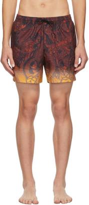 Dries Van Noten Brown Gradient Swim Shorts