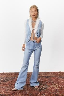 Miss Sixty UO Exclusive Light Denim Flared Jeans - Blue 24 at Urban Outfitters