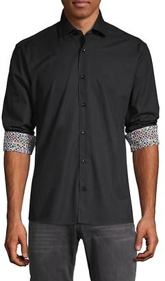 Bertigo Printed Cuff Solid Shirt