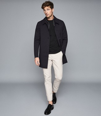 Reiss PERRIN MAC WITH REMOVABLE ZIP NECK INSERT Navy