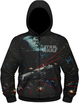 Star Wars Space Battles 1 Men's Sublimated Zip Hoodie