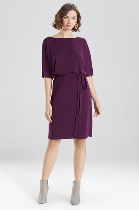 Natori Matte Jersey Blouson Dress
