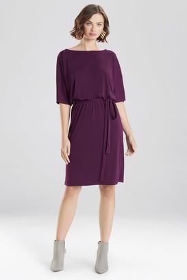 Natori Matte Jersey Blouson Dress