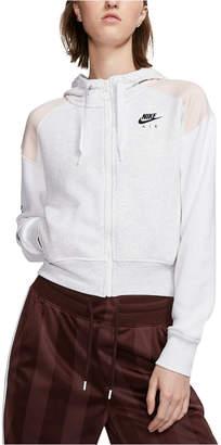 Nike Women Air Colorblocked Zip Fleece Hoodie