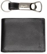 Original Penguin Leather Bifold Wallet with Bottle Opener Keychain