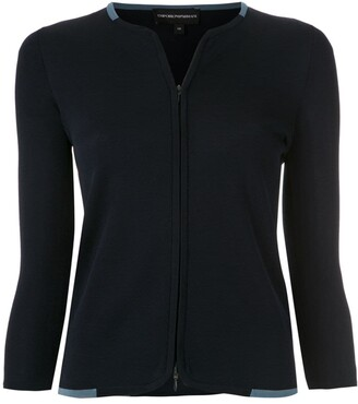 Emporio Armani Zip-Up Cardigan