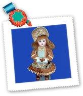 3dRose LLC qs_750_1 Collectible Dolls - Bru Antique Doll - Quilt Squares