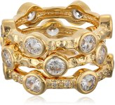 "Freida Rothman Classics"" Collection Classic Set of 3 Starry Night Rings, Size 7"