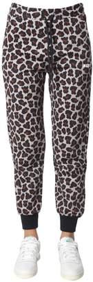 MSGM Leopard Print High Rise Track Pants