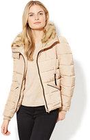 New York & Co. Faux-Fur Trim Puffer Jacket