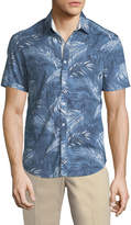 Original Penguin Button-Down Tropical Leaf Sport Shirt
