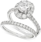 Thumbnail for your product : Grown With Love Lab Grown Diamond Halo Bridal Set (2 ct. t.w.) in 14k White Gold