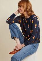 ModCloth Candy Corn Intarsia Sweater in XS
