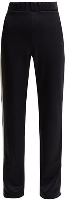 Moncler Side-stripe Jersey Track Pants - Womens - Navy
