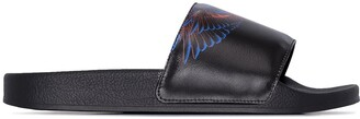 Marcelo Burlon County of Milan Wings print leather slides